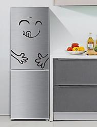 Недорогие -3D Наклейки Простые наклейки Наклейки на холодильник, Специальный материал Украшение дома Наклейка на стену Холодильник Украшение 1шт / Съемная