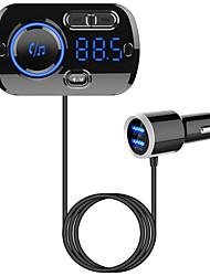 Недорогие -FM-передатчик Bluetooth 5.0 автомобильный комплект громкой связи mp3 музыкальный проигрыватель поддержка tf card / u воспроизведение диска двойной usb быстрая зарядка bc49b