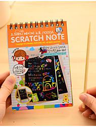 Недорогие -Yiwu pho_04qx креативная мини-скретч-краска цвет diy катушка граффити книга (с деревянным скребком) зеленый