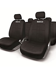 cheap -SPARCO Universal Seat Cover - Black / Waist Cushion Kits Black synthetic fibre Common For universal All years