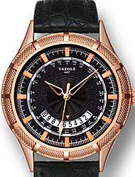 cheap -YAZOLE Men's Dress Watch Quartz Stylish Genuine Leather Black / Brown Water Resistant / Waterproof Calendar / date / day New Design Analog Fashion - Black / Brown Black / White White / Brown