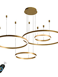cheap -4-Lights LED 110W Ring Circle Chandelier LED Modern Pendant Lights Gold Coffee for Living Room Bar Room Office 4 Layers Dimmable with Remote Control