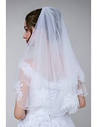 cheap -One-tier Classical / Designer Wedding Veil Elbow Veils with Appliques Tulle