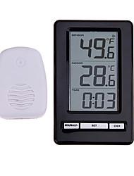 Недорогие -ts-ws-47 беспроводной цифровой термометр комнатный наружный термометр индикация времени настольная подставка метеостанции