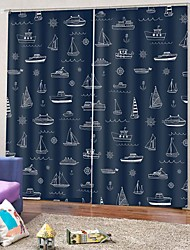 cheap -Home Decor PVC Printing Window Curtain 100% Polyester Bedroom Curtain Fabric