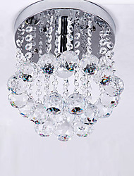 cheap -1-Light Crystal Ceiling Light Flush Mount Lights Ambient Light Electroplated Metal for Corridor Porch