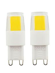 cheap -2pcs G9 LED Bulbs 3W COB LED Light Dimmable Light Bulbs AC110V AC220V For Home Office Warm White White