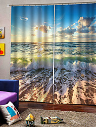 cheap -Chinese Factories Manufacture Wholesale Customizable 3D Digital Printing Curtain thickening 100%Polyester Multifunctional Curtain