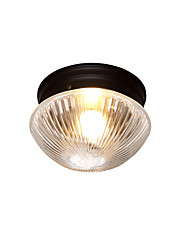 cheap -1-Light Nordic Clear Glass Ceiling Light Flush Mount Lights Ambient Light Painted Finishes Metal Pendant Light Fixture for Corridor Stairs Balcony