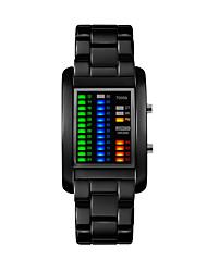 Недорогие -электронные часы Нержавеющая сталь Цифровой Черный Серебряный