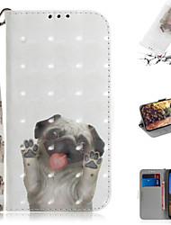 Недорогие -Кейс для Назначение Google Google Pixel 3a XL / Google Pixel 3a Кошелек / Бумажник для карт / со стендом Чехол Животное / 3D в мультяшном стиле Кожа PU