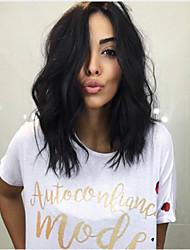 Недорогие -человеческие волосы Remy Полностью ленточные Лента спереди Парик стиль Бразильские волосы Естественные кудри Естественный прямой Нейтральный Парик 130% Плотность волос
