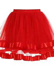 abordables -Mariage / Fête de Mariage Déshabillés Polyester / Tulle Longueur courte Couleur unie / Tutus & Jupes avec