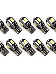 Недорогие -10 шт. T10 Автомобиль Лампы 2 W SMD 5630 300 lm 8 Светодиодная лампа Подсветка для номерного знака / Задний свет / Боковые габаритные огни Назначение Универсальный Все года