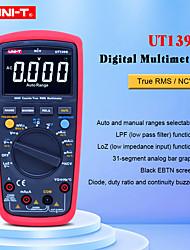Недорогие -цифровой мультиметр uni-t ut139s автоматический диапазон истинный среднеквадратичный температурный датчик lpf проходной фильтр loz вход низкого сопротивления