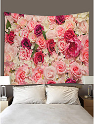 cheap -Valentine's Day Wall Tapestry Art Decor Blanket Curtain Hanging Home Bedroom Living Room Decoration Rose Flower