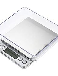 cheap -3000g LCD-Digital Screen Auto Off Portable Electronic Kitchen Scale Digital Jewelry Scale with 2 Trays