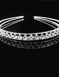 cheap -Rhinestone / Alloy Tiaras / Headbands / Hair Accessory with Sparkling Glitter / Trim 1 Piece Wedding / Daily Wear Headpiece