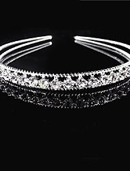 cheap -Rhinestone / Alloy Tiaras / Headbands / Hair Accessory with Sparkling Glitter / Trim 1 Piece Wedding / Daily Wear Headpiece
