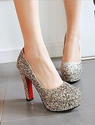 cheap -Women's Heels Chunky Heel Synthetics Spring &  Fall White / Black / Pink