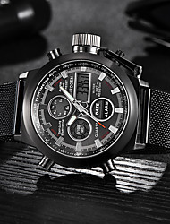 cheap -Men's Dress Watch Quartz Formal Style Sporty Stainless Steel Black / Silver 30 m Day Date Analog - Digital Luxury Fashion - White Black One Year Battery Life