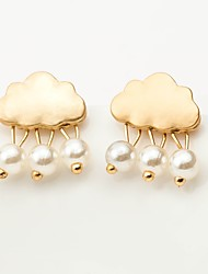 cheap -Women's Earrings Earrings Jewelry Silver / Gold For Gift Holiday Work Promise 1 Pair