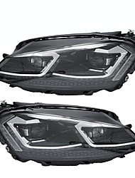 cheap -Front Clear HID Headlights Assembly Head Lamp LED DRL Dual Color Pair For VW Golf 7 MK7 2015-2017