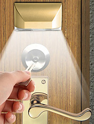 cheap -1 set 2W 4LED Infrared Door Lock Human Body Induction Lamp Human Body Induction Night Light Under Cabinet Lighting Indoor Aisle Induction Lamp Gift Light
