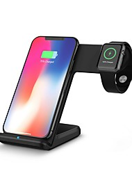 cheap -Desktop Charger  Wireless Charging Quick Charge Support Charging 2 Devices at the Same Time Dock Charger for Apple iWatch iPhone 11/11Pro/11Pro Max/X/XS/XS Max iWatch 5 4 3 2 1 and more