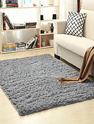 cheap -Washable Shaggy Floor Rug Plain Soft Area Mat Thickn Non-slip Rug for Living Room Tea Table Bed Yoga