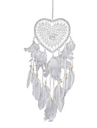 cheap -Boho Dream Catcher Handmade Gift Wall Hanging Decor Art Ornament Craf Heart 60*15cm for Kids Bedroom Wedding Festival