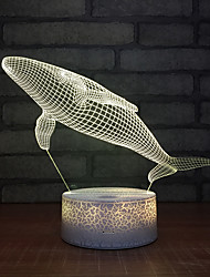 cheap -Whale 3d Night Light New Fantasy Led Decorative Stereo 3d Usb Children's Toys Children Led Lamp Fixture Table Lamps