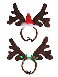 cheap -Cute Christmas Pet Headband Deer Horn Hat Headgear Costume Dog Puppy Cat Cosplay Party Prop