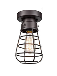 cheap -1-Light 13 cm Mini Style Flush Mount Lights Metal Lantern Painted Finishes Retro Vintage / Country 110-120V / 220-240V