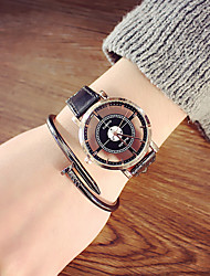 cheap -Skeleton Watch Leather Analog Black belt black plate Black belt with white plate White belt white plate / Stainless Steel