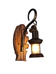 cheap -Retro Flush Mount wall Lights Indoor / Study Room / Office Wood / Bamboo Wall Light 110-120V / 220-240V 60 W