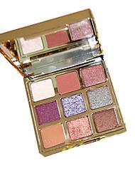 Недорогие -9 цветов Тени Матовое стекло Тени для век Pro Прост в применении Офис Повседневный макияж косметический Подарок