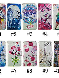 cheap -Case For LG LG V40 / LG V30 / LG Stylo 4 Wallet / Card Holder / with Stand Full Body Cases Butterfly / 3D Cartoon / Flower Hard PU Leather / LG G6
