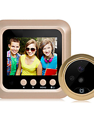cheap -2.4 inch digital intelligent electronic visual cat's eye doorbell support video camera night vision large viewing angle