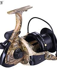 cheap -Fishing Reel Spinning Reel 4.1:1 Gear Ratio+12 Ball Bearings Hand Orientation Exchangable Freshwater Fishing / Carp Fishing