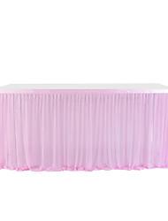 cheap -High-end Stretch Yarn Elegant Mesh Fluffy Tutu Table Skirt for Party Wedding Birthday Party Home Decoration