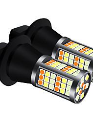 cheap -2pcs/set DRL LED BAU15S BA15S P21W PY21W S25 T20 7440 81SMD 3030 night day Running lights&Turn Signal Light Light Bulbs three color Model ice bluewhiteyellow