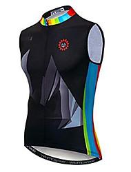 cheap -21Grams Rainbow Men's Sleeveless Cycling Jersey - Black / Blue Bike Jersey Top Breathable Moisture Wicking Quick Dry Sports Polyester Elastane Terylene Mountain Bike MTB Road Bike Cycling Clothing