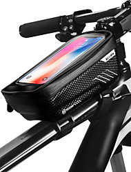 cheap -WILD MAN Cell Phone Bag Bike Frame Bag Top Tube 6.2 inch Touch Screen Waterproof Rainproof Cycling for iPhone 8 Plus / 7 Plus / 6S Plus / 6 Plus iPhone X Black Black-Red Road Bike Mountain Bike MTB