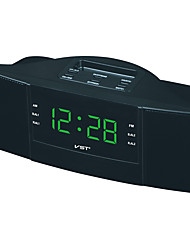 cheap -Exquisite Dual Band Alarm Sleep Clock AM/FM Radio with LED Display European Plug