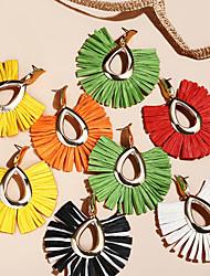cheap -Women's Drop Earrings Dangle Earrings Classic Drop Bohemian Fashion Elegant Earrings Jewelry Light Yellow / Green / Red For Gift Daily Carnival Holiday Festival 1 Pair