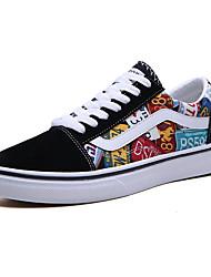 cheap -Women's Sneakers Flat Heel Round Toe Canvas Sweet Walking Shoes Summer Black / Red / Black / Yellow