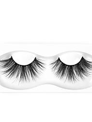 cheap -Neitsi One Pair False Eyelashes Premium Mink Eyelashes Extensions 25mm Black Fake Eyelashes for Makeup MH013