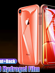 cheap -front+back 15d protective hydrogel film on the for iphone x xr xs max 8 7 6 6s plus screen protector film full cover not glass