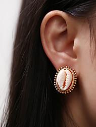 cheap -Women's Stud Earrings Earrings Geometrical Shell Bohemian Fashion Silver Plated Gold Plated Earrings Jewelry Gold / Silver For Daily Holiday 1 Pair
